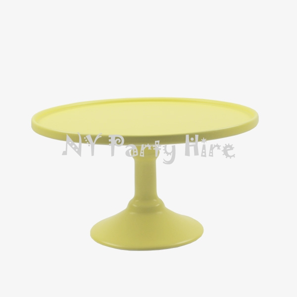 Pedestal Cake Stand - Yellow - Large - NY Party Hire