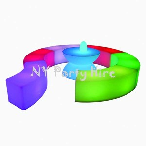 NY Party Hire Glow Curved Bench / NY Party Hire Glow Snake Bench / NY Party Hire Glow Furniture / NY Party Hire Illuminated LED Curved Bench / NY Party Hire LED Furniture