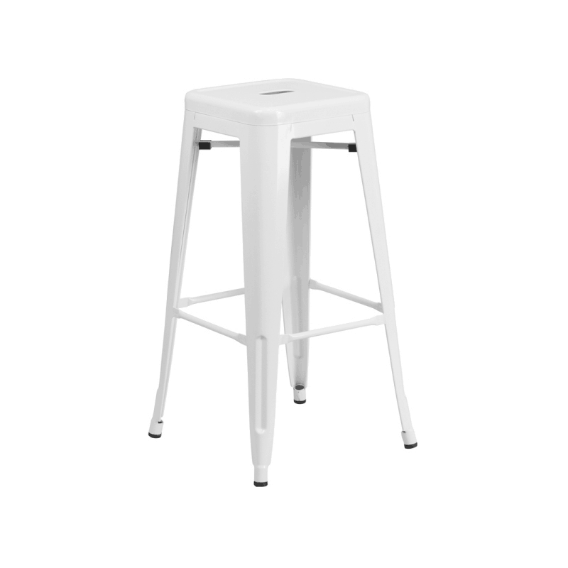 White Metal Bar Stools Ny Party Hire