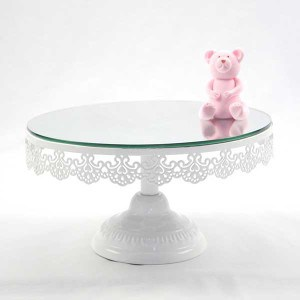 Cake Stand Hire, Cheap Cake Stand Hire Sydney, Lace Pedestal Cake Stand With Mirror