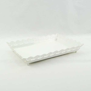 Cake Stand Hire, Cheap Cake Stand Hire Sydney, Lace Rectangular Cake Tray
